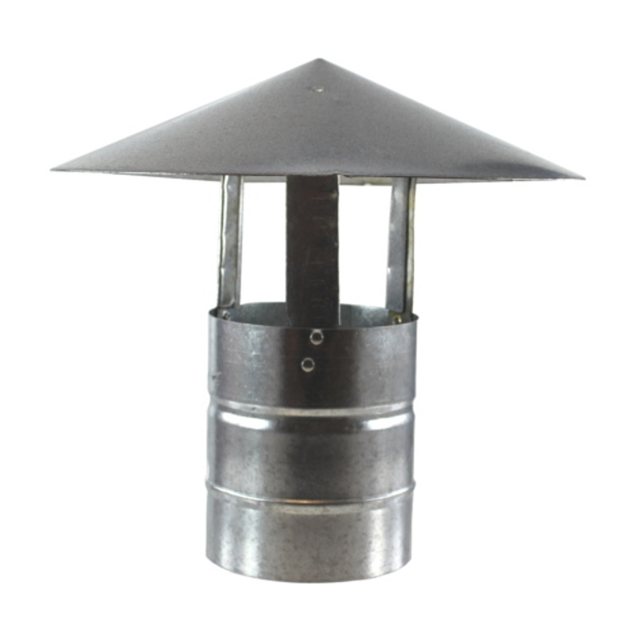 "5"" Galvanized Stove Pipe Shanty Cap - (Available For Local Pick Up Only)"
