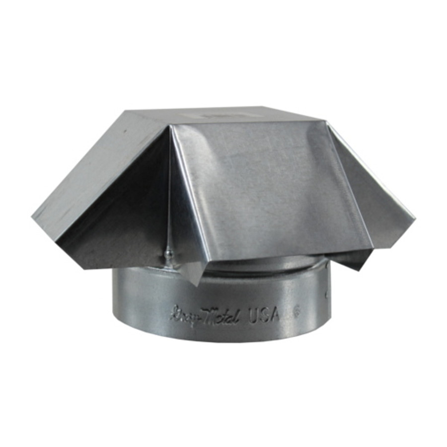 """6"""" Galvanized Stove Pipe Shanty Cap - (Available For Local Pick Up Only)"""
