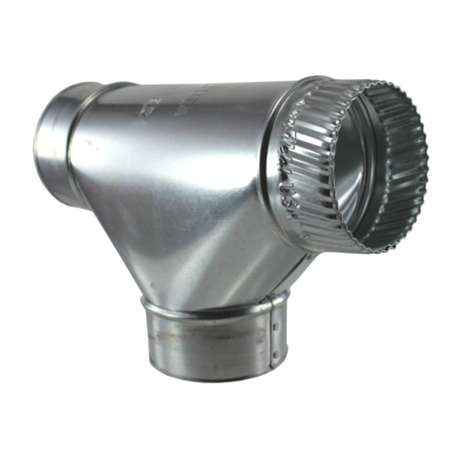 "4"" Galvanized Stove Pipe Tee (26 Gauge) - (Available For Local Pick Up Only)"