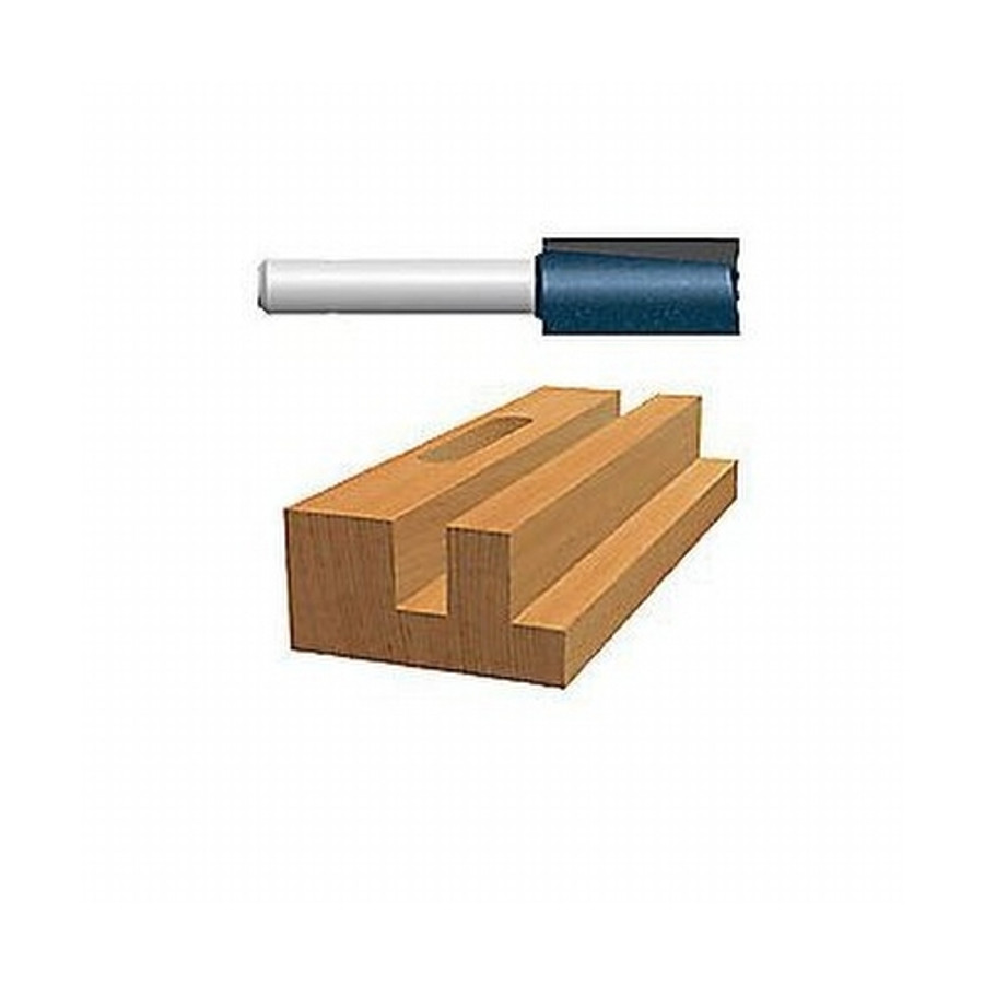 """1-1/8"""" X 1-1/4"""" Carbide Tipped Double Flute Straight Bit (1/2"""" Shank)"""