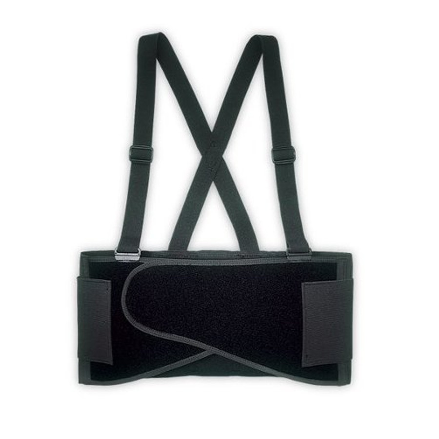 "46"" to 56"" Waist Elastic Back Support Belt w/ Suspenders"