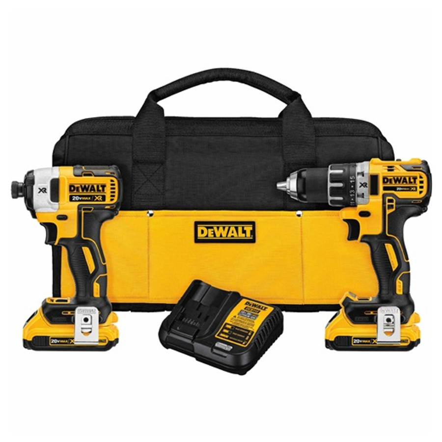 DeWalt 20V Max XR Brushless Compact Drill/Driver And Impact Driver Combo Kit