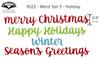 Word Set 3 - Holiday