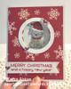 Card by Karen Aicken. Other Dies: 1011 Katherine Label Pop up, 1012 Snowman Twist Circle