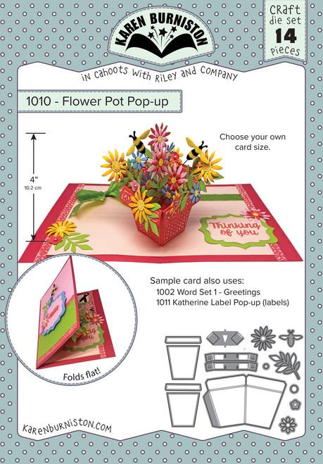 Flower Pot Pop-Up Die Set