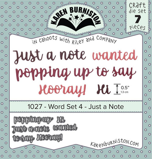 Word Set 4 - Just a note
