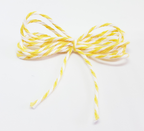 Bakers Twine - Soft Yellow and White