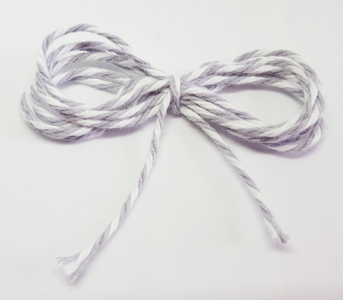 Baker's Twine - Soft Grey and White