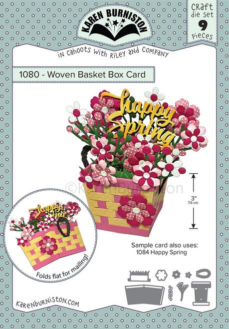 Woven Basket Box Card Pop-up