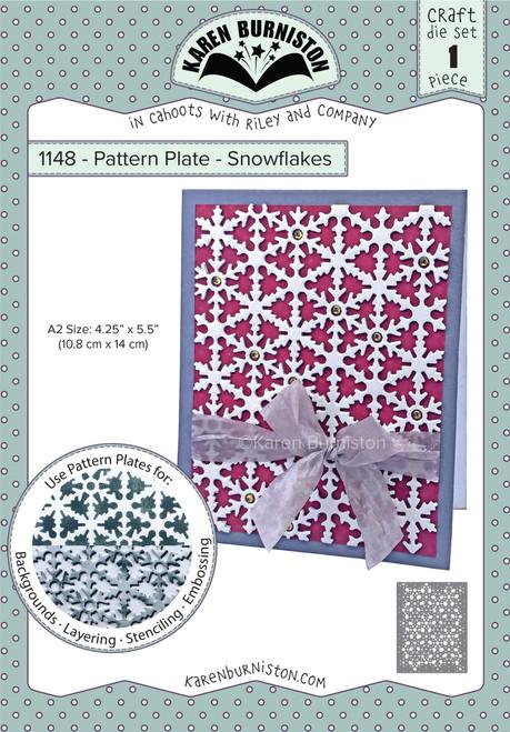Pattern Plate - Snowflakes
