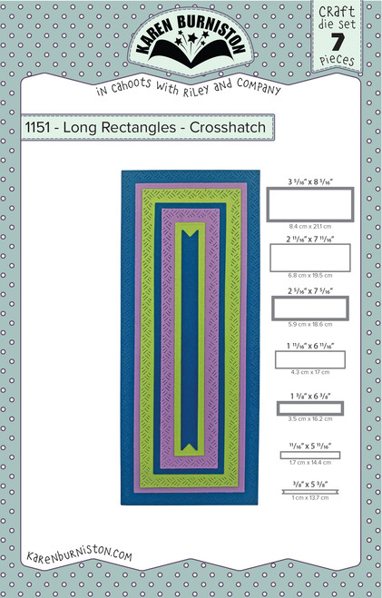 Long Rectangles - Crosshatch