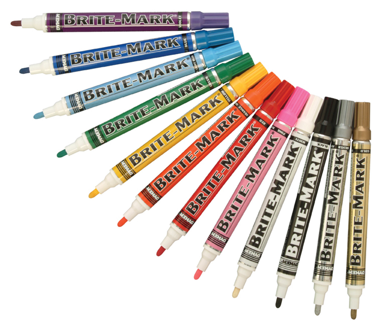 Dykem Brite Mark Medium Valve Action Paint Marker Pen Metal Rubber Plastic Wood
