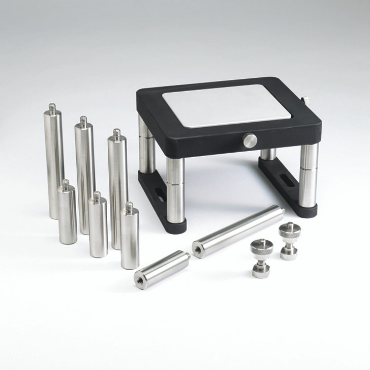 Fixture Base Table is rectangular with removable insert which can be used as test surface.