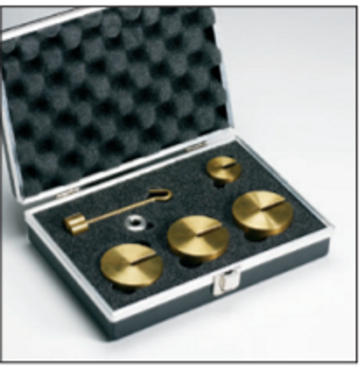 Calibration Weight Set contains a combination of certified weights which may be used to confirm the calibration and linearity of each specific load cell.