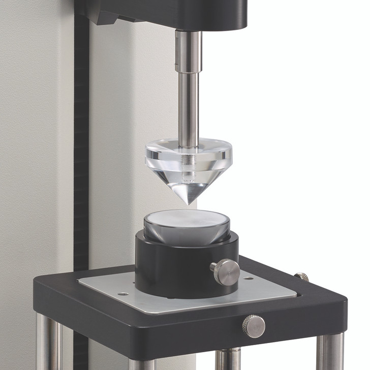 Spread Test Fixture quantifies the spread force of a material. Comes with 1 male cone probe, 5 five samples cups and 1 sample cup holder