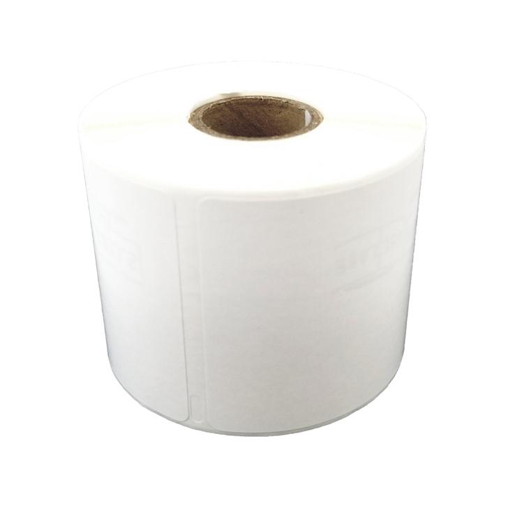 2.31 in. X 4 in. 300 labels per roll.
