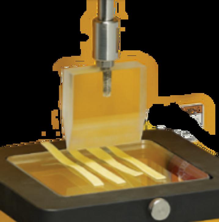 Le dispositif de mesure de la fermeté et de l'adhérence des pâtes mesure la force de cisaillement lors de la morsure des pâtes et des produits similaires.