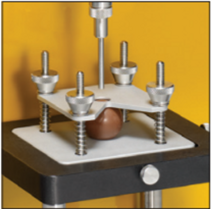 Confectionary Fixture for holding candies and similar products for penetration testing.
