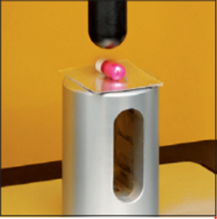 Blister Pack Support Fixture is used to measure the force required to remove the tablet from its blister pack