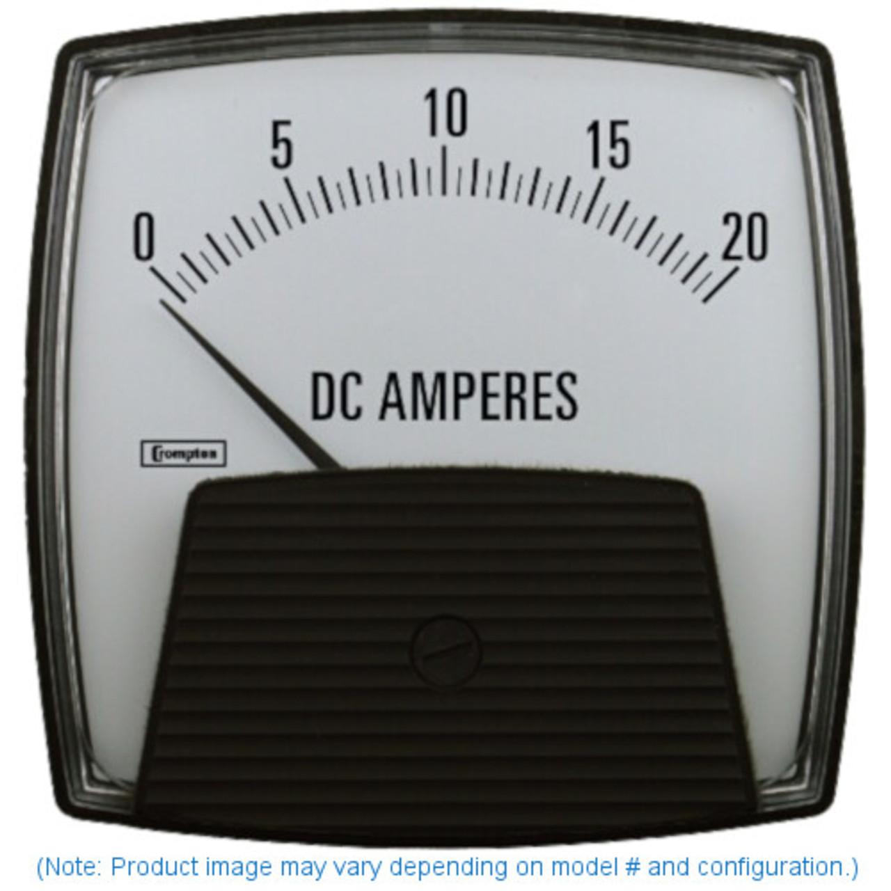 "Crompton 364-01C-A-FG-XX , Model 364-4 1/2"" Challenger Series centre zero ammeter"