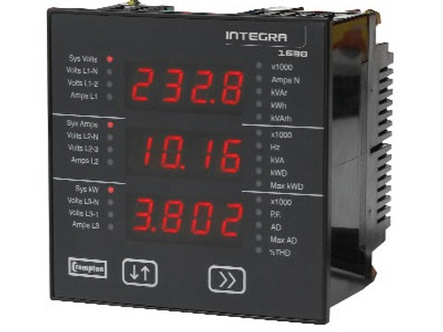 Crompton Integra 1584, 3 Phase/4 Wire; 45-65Hz - Input Voltage 100-240V L-L (57-139V L-N) - Base MountINT-1584-L