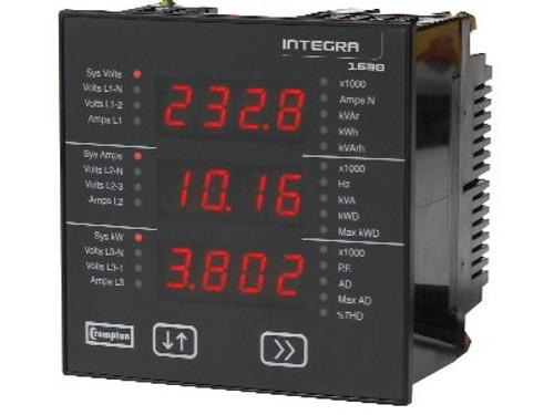 Crompton Integra 1565, 3 Phase/4 Wire; 45-65Hz - Input Voltage 100-240V L-L (57-139V L-N)