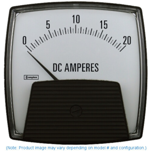 "Crompton 364-01C-A-GB-XX , Model 364-4 1/2"" Challenger Series centre zero ammeter"