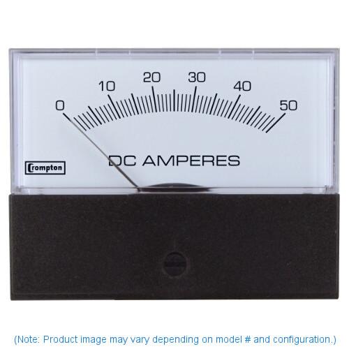 """Crompton 364-02VA-Z1ZS-C7-SM-CP , Model 364-4 1/2"""" Challenger Series Iron Vane  Panel Meter"""