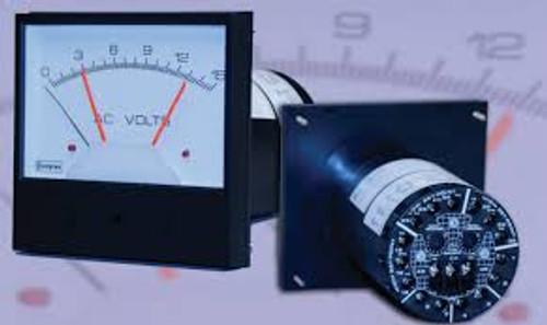 Crompton 012-75a Analog Panel Meters - ANSI 2.5 inch Saxon Series