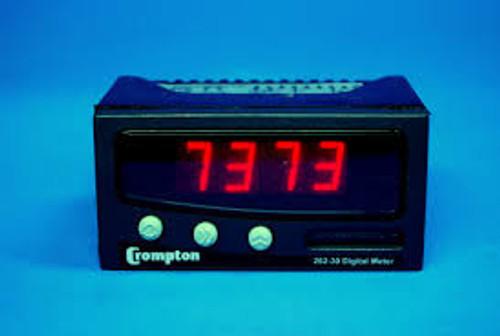 Crompton 262-30A-AC-01TRUE RMS VOLT/CURRENT METER, 90-253V; No. of Digits / Alpha: 4; Meter Function: AC Current / DC Current / AC Voltage