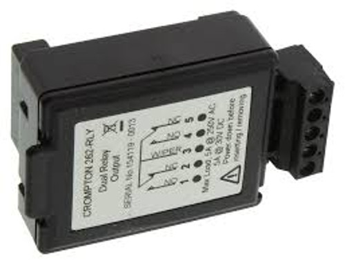CROMPTON 262-RLYDUAL RELAY OUTPUT POD USED WITH 262 METER RELAY