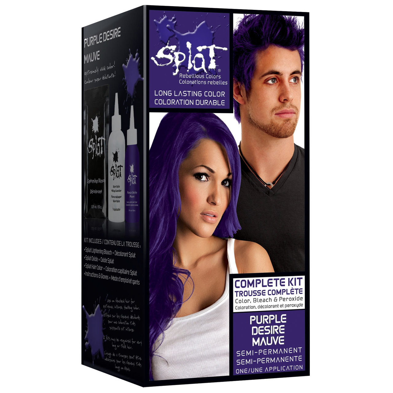Permanent Semi hair color purple 2019