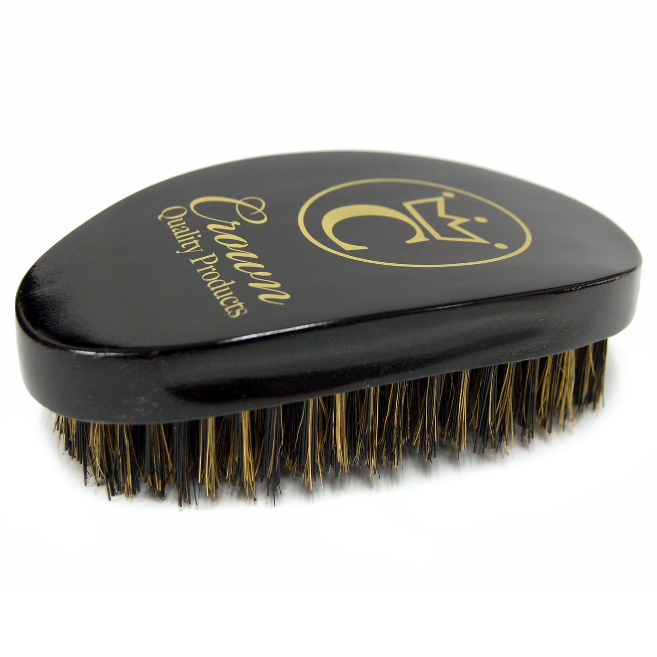 Crown 360 Gold Caesar Brush, Onyx Black - Medium Bristle