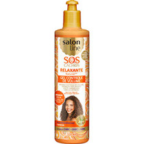 Salon Line Gel Relaxante Natural S.O.S Cachos Controle de Volume Salon Line 320 ml