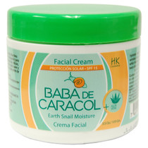 Baba De Caracol Earth Snail Moisture Facial Cream SPF 15 With Aloe 3.5 oz