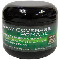Swing It Gray Coverage Pomade, Brown 4 oz