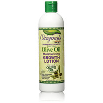 Africa's Best Originals Max Strength Olive Oil Moisturizing Grow Lotion 12 oz