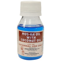 Castillo Aceite Mos-Ka con Aceite de Coco, Mos-Ka Oil with Coconut Oil 2 oz