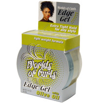Worlds of Curls Edge Gel with Olive Oil 2.25 oz