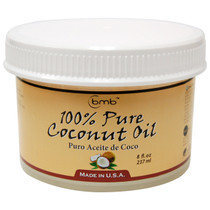 BMB 100% Pure Coconut Oil for Hair and Skin Puro Aceite De Coco, 8 oz