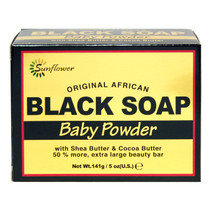 Sunflower Black Soap - Baby Powder 0.5 oz