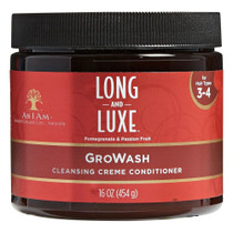 As I Am Long and Luxe GroWash Cleansing Creme Conditioner, 16 oz