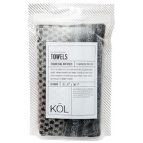 Donnamax Kol Charcoal Infused Towels, Two Towels #5302