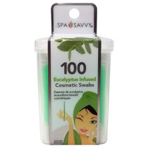 Donnamax Spa Savvy Cosmetic Swabs 100CT - Eucalyptus Infused