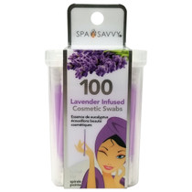 Donnamax Spa Savvy Cosmetic Swabs 100CT - Lavender Infused
