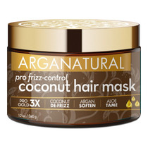 Arganatural Gold Pro Frizz Control Coconut Hair Mask 12 oz