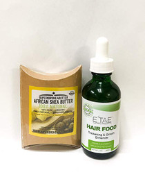 ETAE Hair Food Thickening & Growth Enhancer 2 OZ with African Shea Butter 100% Organic