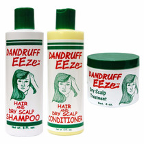 Dandruff EEze Hair - Shampoo 8oz, Conditioner 8oz, Treatment 4oz (3-PACK)