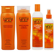 "Cantu Moisturizing Shampoo + Rinse + Conditioning Creamy Lotion + Coconut Oil Mist ""Set"""
