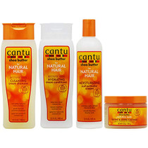 "Cantu Cleansing Cream Shampoo + Conditioner + Curl Activator Cream + Define & Shine Custard ""Set"""